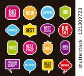sale labels over black... | Shutterstock .eps vector #121309723