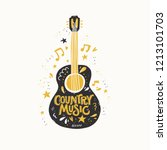 illustration with acoustic... | Shutterstock .eps vector #1213101703