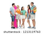 summer holidays and people... | Shutterstock . vector #1213119763