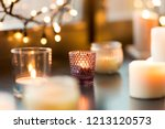 hygge  decoration and christmas ... | Shutterstock . vector #1213120573