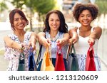 sale  consumerism and people... | Shutterstock . vector #1213120609