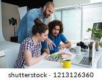 team of photographers working... | Shutterstock . vector #1213126360