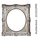 vintage silver  frame  isolated ... | Shutterstock . vector #121312990