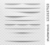 isolated shadow bottom web... | Shutterstock . vector #1213137523