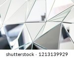 mirror with crystals in wall ... | Shutterstock . vector #1213139929