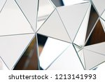 mirror with crystals in wall ... | Shutterstock . vector #1213141993