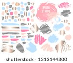 set stroke spot golden pink... | Shutterstock .eps vector #1213144300