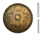Old Wooden Vikings\' Shield...