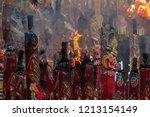 the nine emperor gods festival  ...   Shutterstock . vector #1213154149