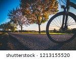 bikes in the sundown   Shutterstock . vector #1213155520