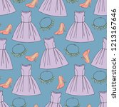 seamless pattern with clothing...   Shutterstock .eps vector #1213167646