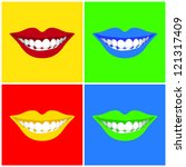 beautiful woman        s  mouth ... | Shutterstock .eps vector #121317409