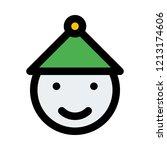 smiling snowman face | Shutterstock .eps vector #1213174606