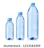set of water  plastic bottles...   Shutterstock . vector #1213183309