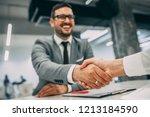 business people shaking hands. | Shutterstock . vector #1213184590