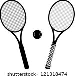 tennis rackets. stencil and...