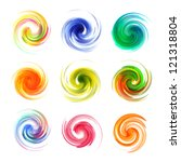 colorful abstract icon set.... | Shutterstock .eps vector #121318804