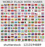 world flags collection with... | Shutterstock .eps vector #1213194889