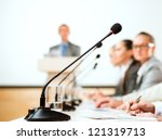 close up of a microphone  a... | Shutterstock . vector #121319713