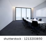 3d rendering  interior meeting... | Shutterstock . vector #1213203850