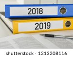folders with the label 2018 and ... | Shutterstock . vector #1213208116