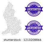 dotted black map of... | Shutterstock .eps vector #1213208866
