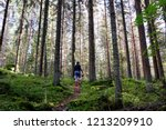 young girl looking for... | Shutterstock . vector #1213209910