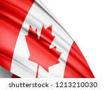 canada  flag of silk with... | Shutterstock . vector #1213210030