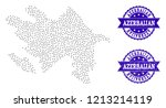 dotted black map of azerbaijan... | Shutterstock .eps vector #1213214119