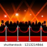 hollywood red carpet background | Shutterstock .eps vector #1213214866