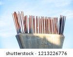 steel bar to build a bridge   Shutterstock . vector #1213226776