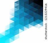 blue grid mosaic background ...   Shutterstock .eps vector #1213229416