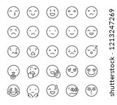 emoji  icon set. smile  linear... | Shutterstock .eps vector #1213247269