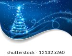 magic christmas tree. christmas ... | Shutterstock . vector #121325260