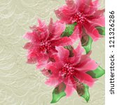 wedding card or invitation with ... | Shutterstock .eps vector #121326286