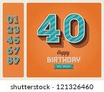 template happy birthday card... | Shutterstock .eps vector #121326460