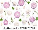 creative food minimalism. fresh ... | Shutterstock . vector #1213270240