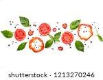 food art. creative composition... | Shutterstock . vector #1213270246