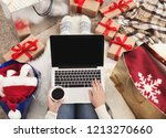 preparing for christmas party.... | Shutterstock . vector #1213270660