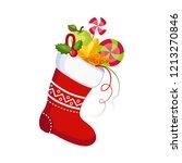 christmas socks with presents.... | Shutterstock .eps vector #1213270846