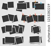big set of square vector photo... | Shutterstock .eps vector #1213282219