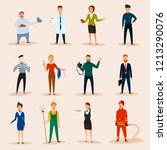 professions characters  set | Shutterstock .eps vector #1213290076