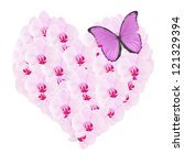Heart From Pink Orchid Flowers...