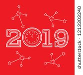 christmas and new year 2019... | Shutterstock .eps vector #1213303240