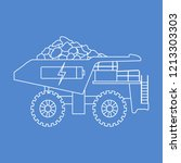 electric dumper with ore ... | Shutterstock .eps vector #1213303303