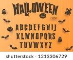 halloween font  original... | Shutterstock .eps vector #1213306729