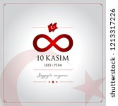 10 kasim vector illustration. ... | Shutterstock .eps vector #1213317226