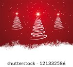 original spiral christmas tree... | Shutterstock .eps vector #121332586