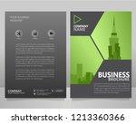 business brochure flyer vector... | Shutterstock .eps vector #1213360366