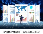 concept of business charts and... | Shutterstock . vector #1213360510